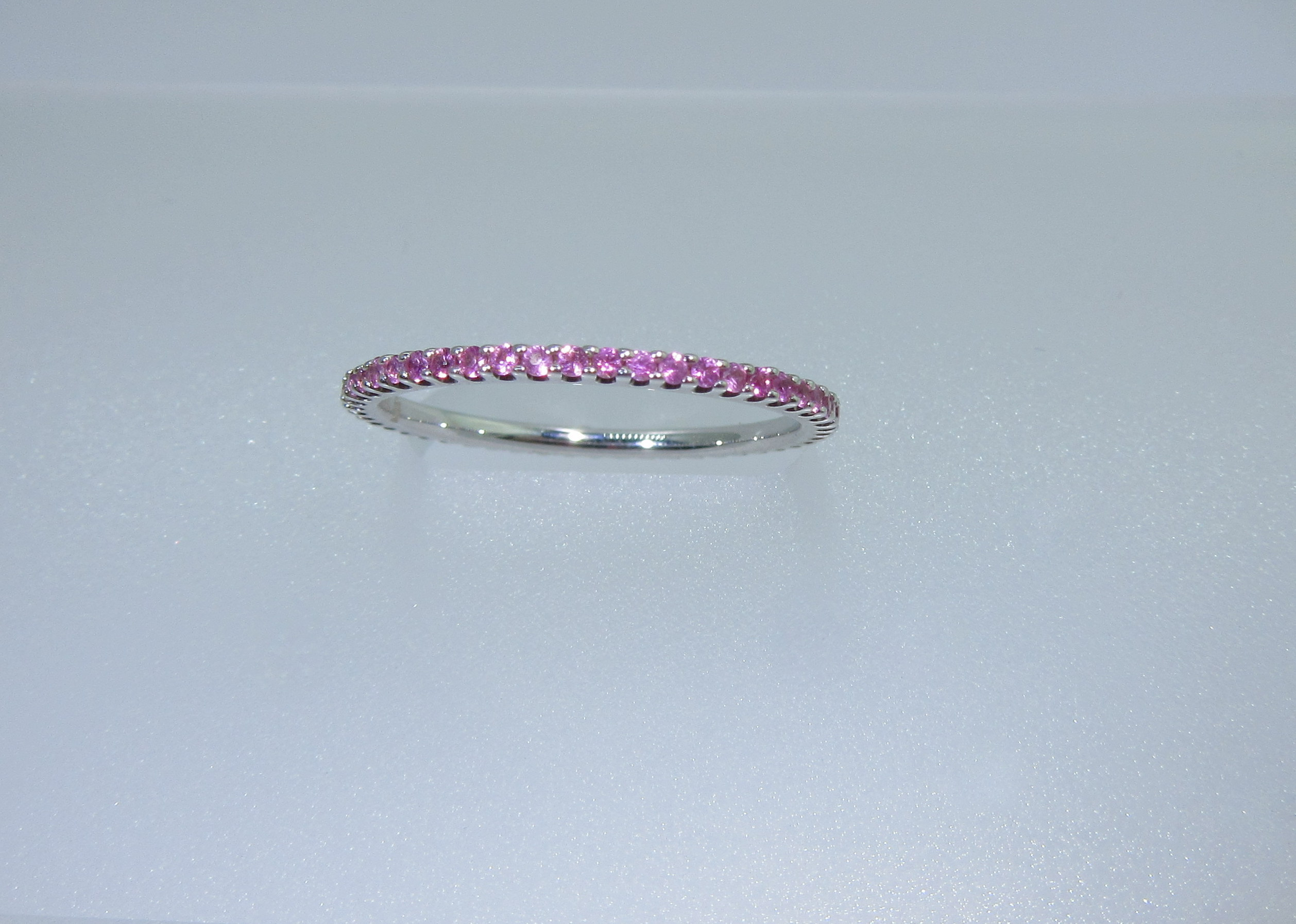 kwiat band in stacking gallery rose bands normal sapphire ring lyst eternity pink product blue gold jewelry