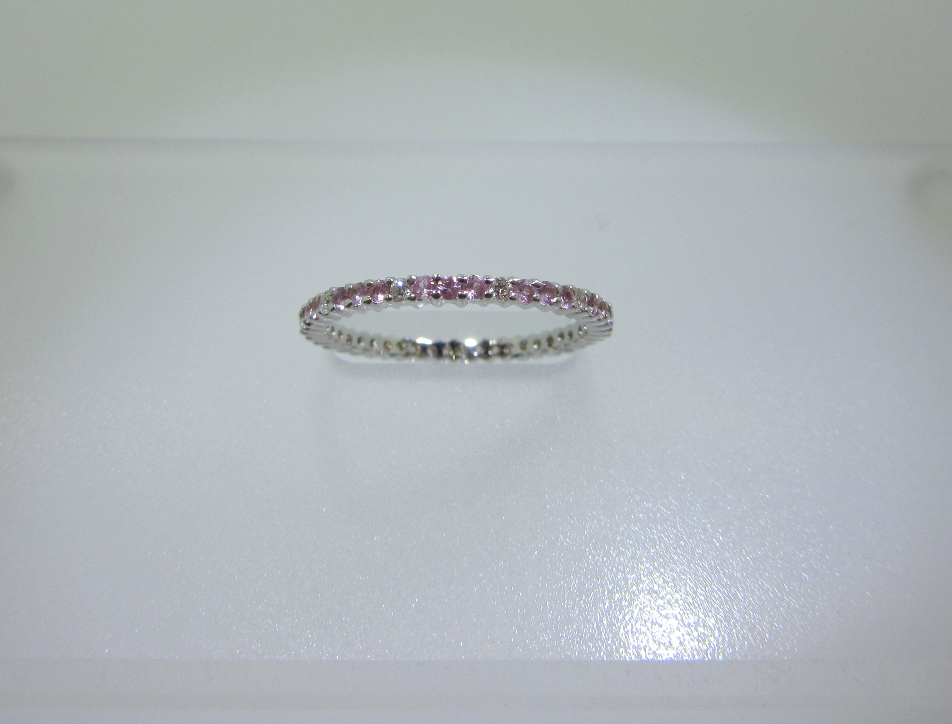 bp parker diamond sapphire pink product eternity bands band barbara vault s