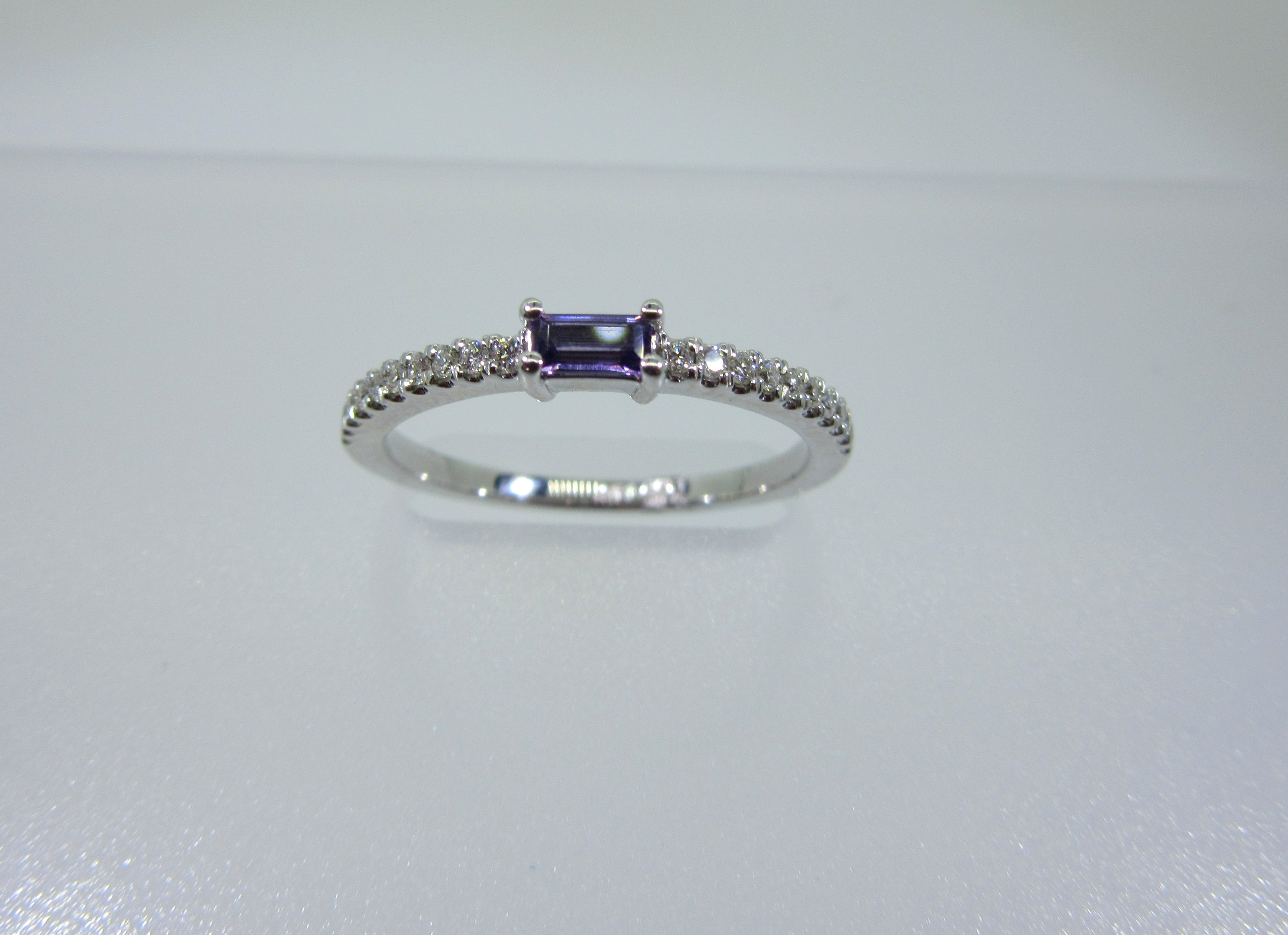 Amethyst & Diamond Anniversary Band