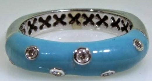 Turquoise Enamel Ring