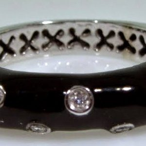 Black Enamel Ring