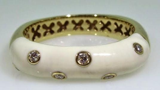 White Enamel Ring