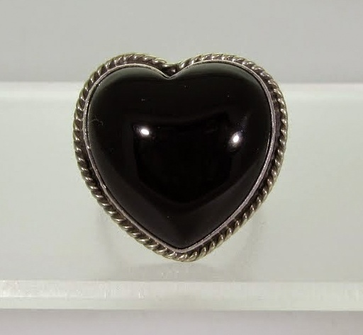 Joan Slifka Black Onyx Heart Ring
