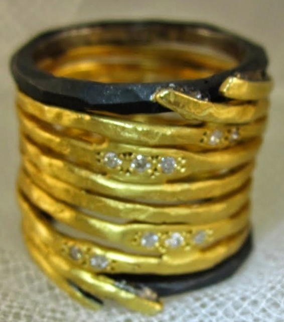 Wide Wrapped Gold Ring