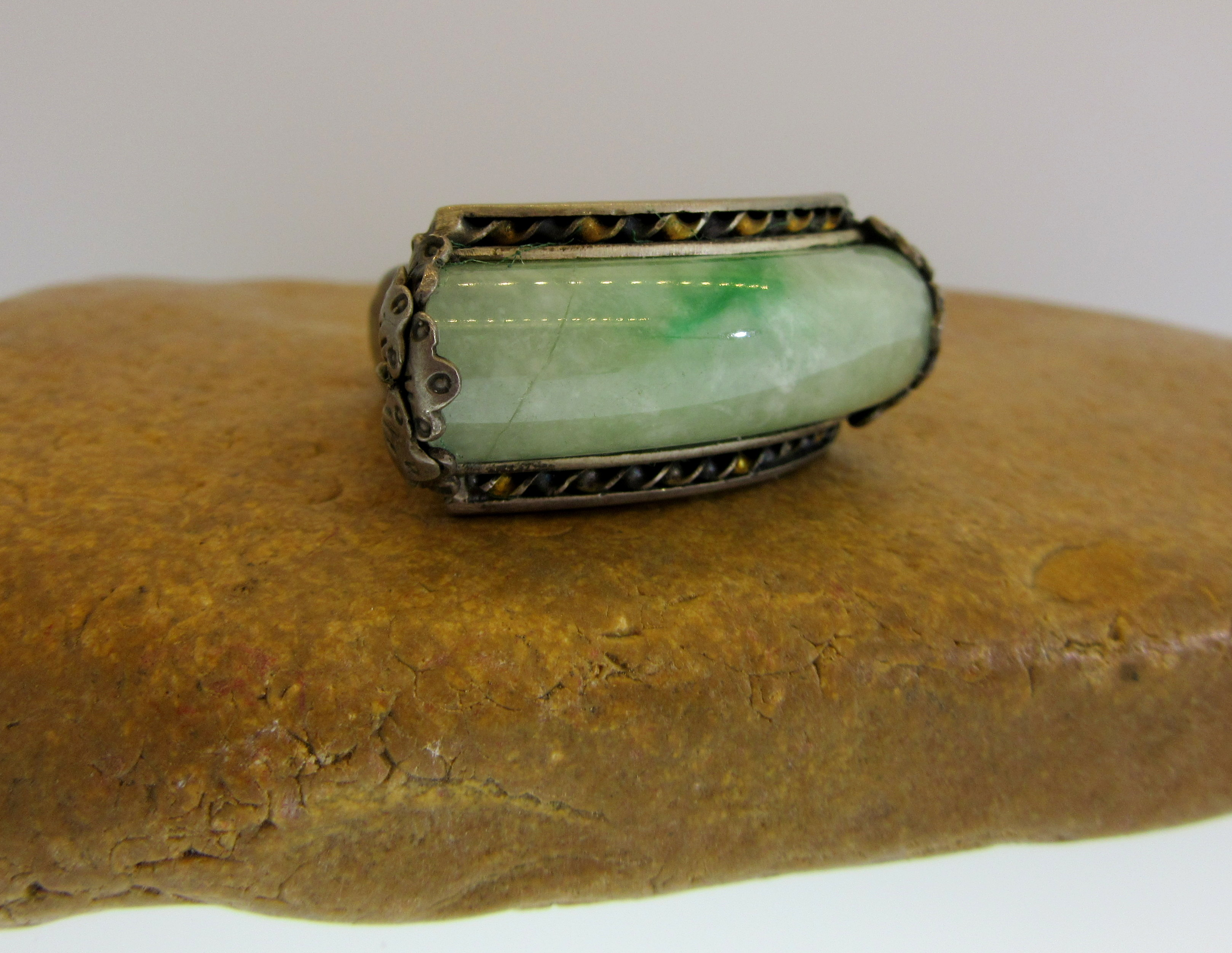 Jade Twist Ring