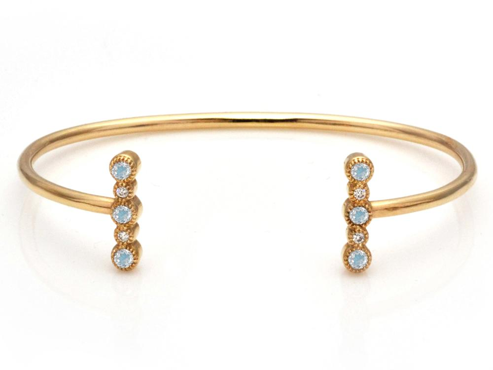TIMELESS DESIGNS - Diamond Bracelet with Moonstone