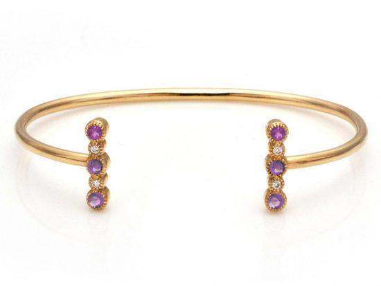 TIMELESS DESIGNS - Diamond Bracelet with Tourmaline