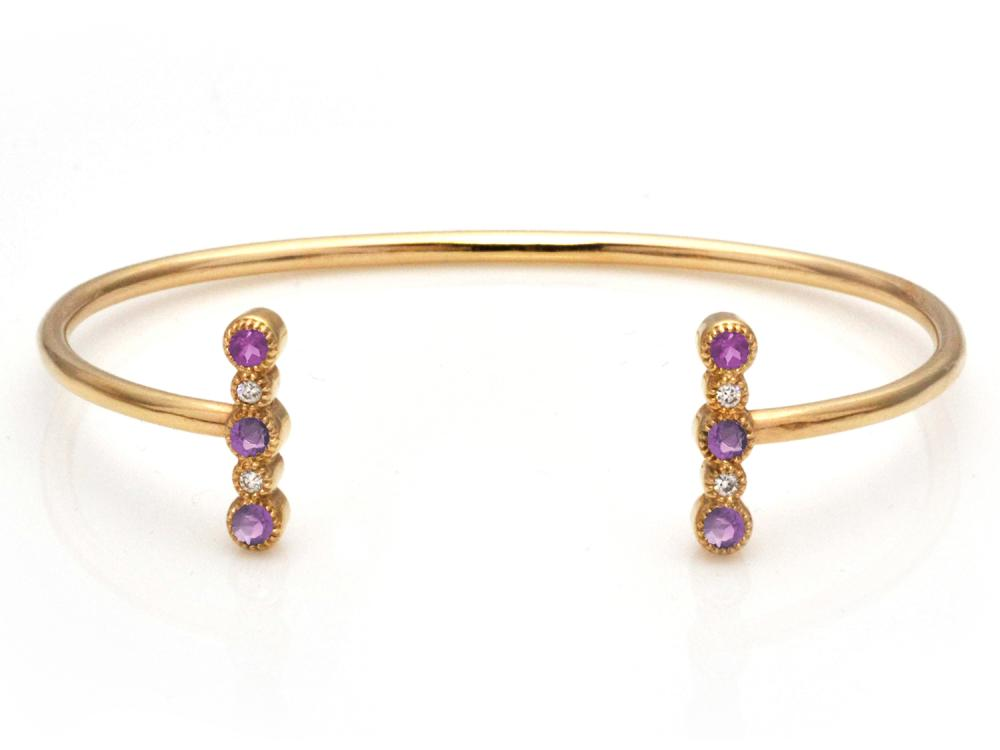 TIMELESS DESIGNS - Diamond Bracelet with Tourmaline