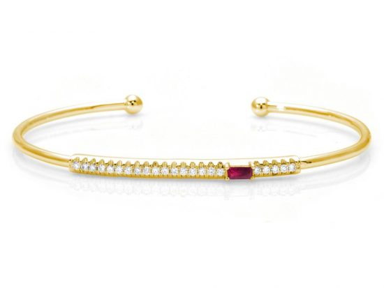 TIMELESS DESIGNS - Diamond Bracelet with Ruby