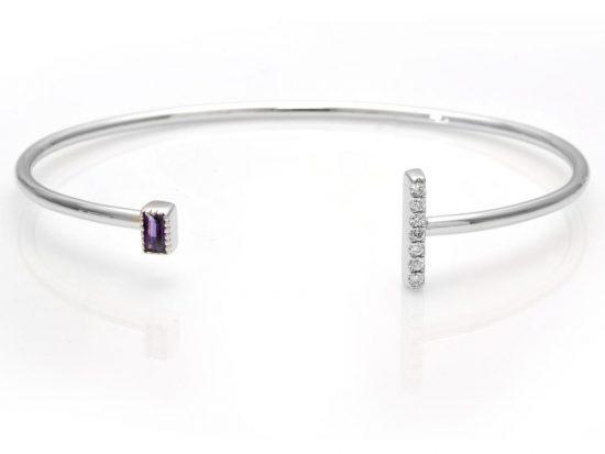 TIMELESS DESIGNS - Diamond Bracelet with Amethyst