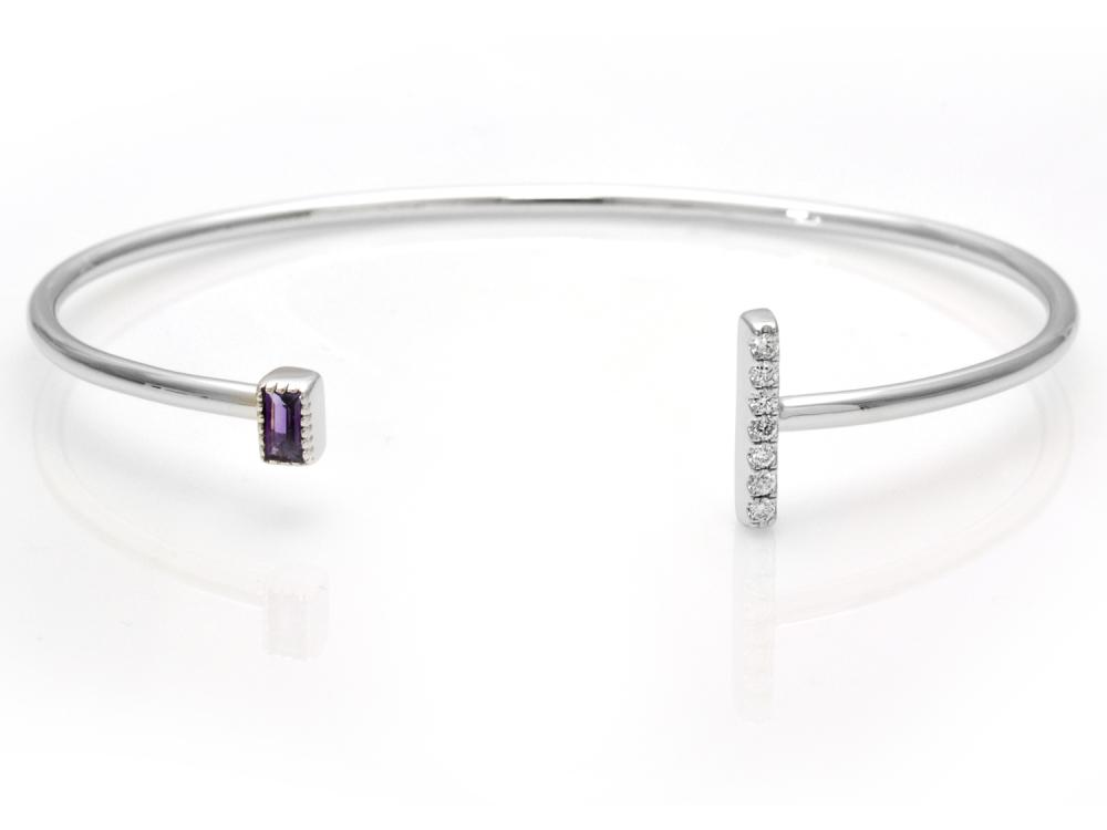 TIMELESS DESIGNS - Diamond Bracelet with Amethyst