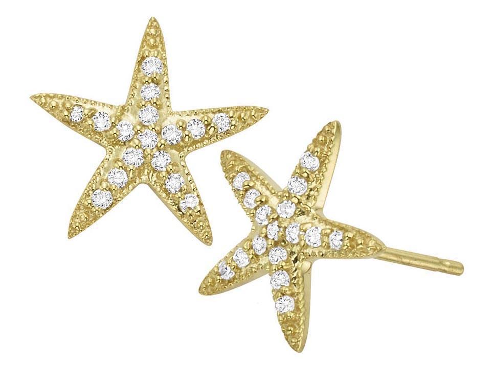 KC DESIGNS - Diamond Starfish Earrings