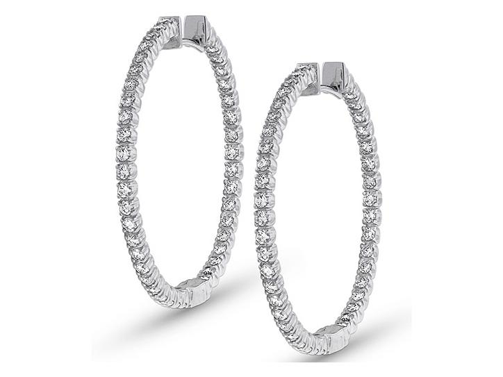 KC DESIGNS - Diamond Inside Outside Hoop Earrings