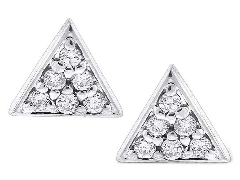 KC DESIGNS - Diamond Triangle Stud Earrings