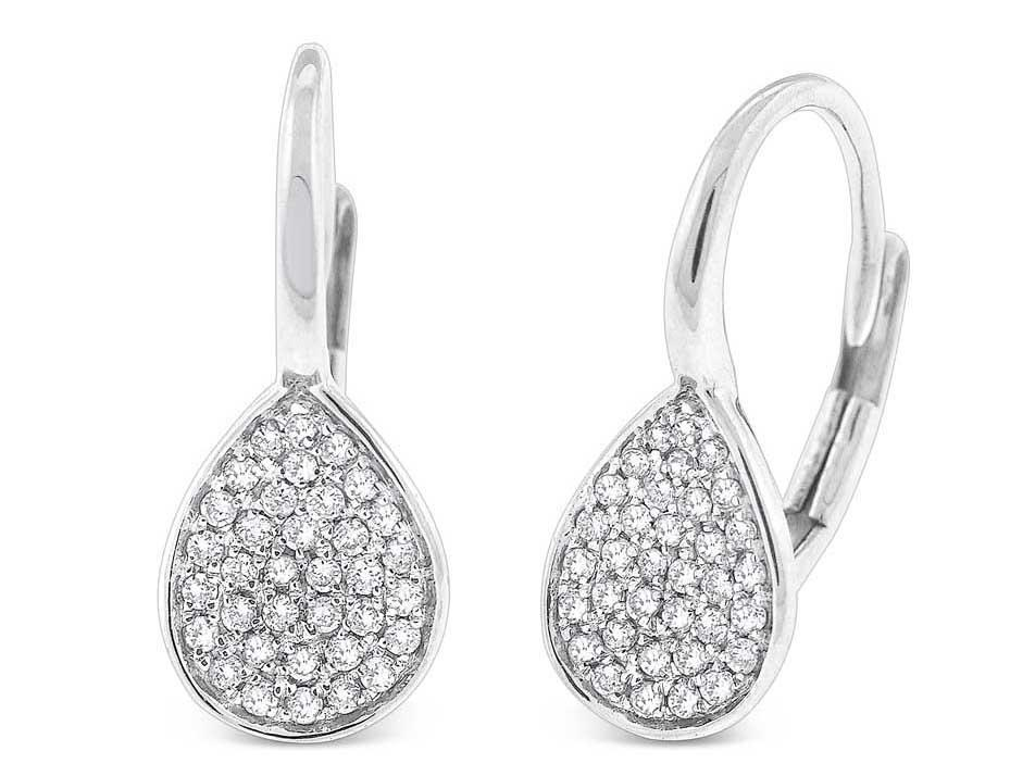 KC DESIGNS - Diamond Pave Teardrop Earrings