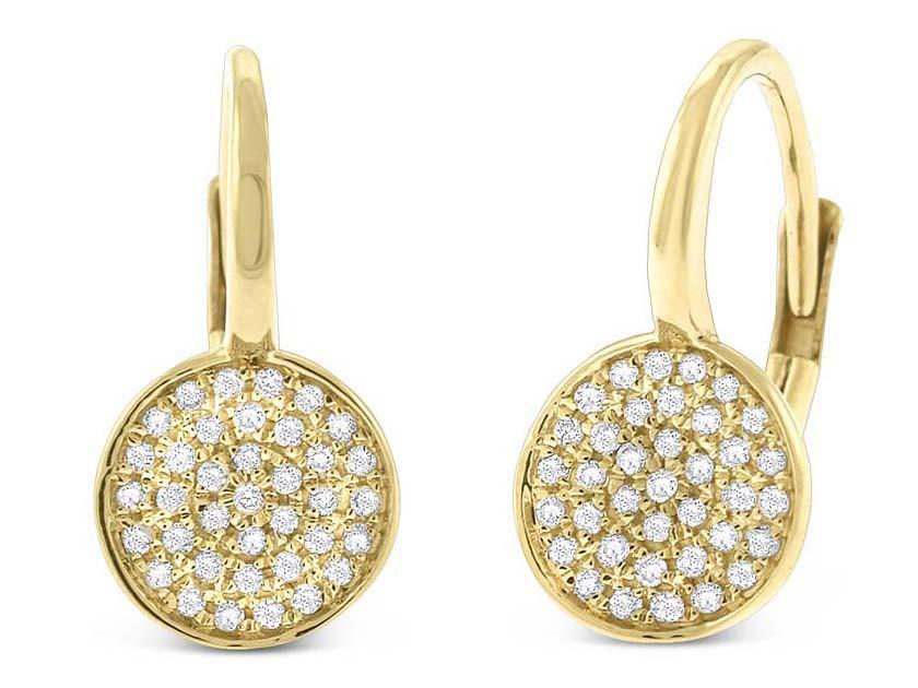 KC DESIGNS - Diamond Pave Disc Earrings