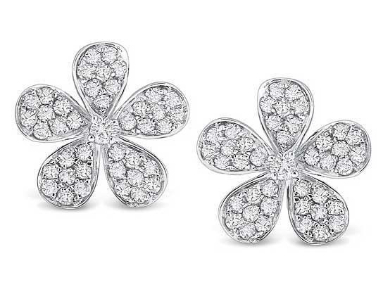 KC DESIGNS - Diamond Floral Earrings