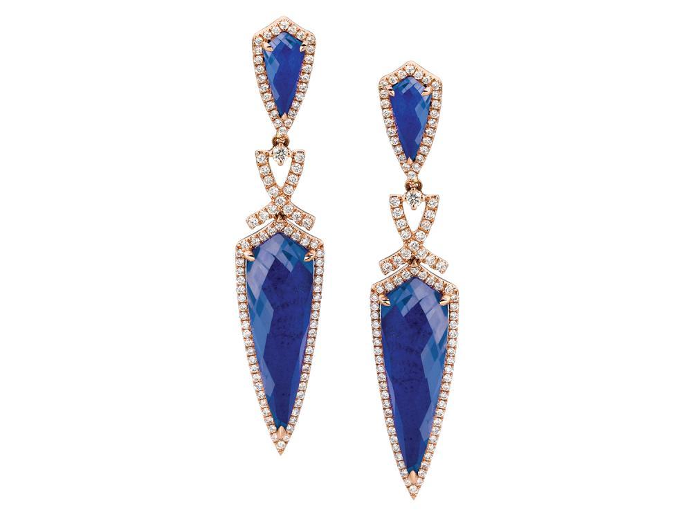 DOVES - 18K Rose Gold Diamond Earrings