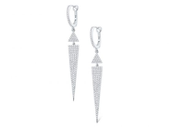 KC DESIGNS - 14k Diamond Geometric Earrings
