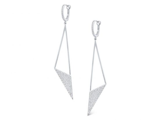 KC DESIGNS - 14k Diamond Triangle Earrings