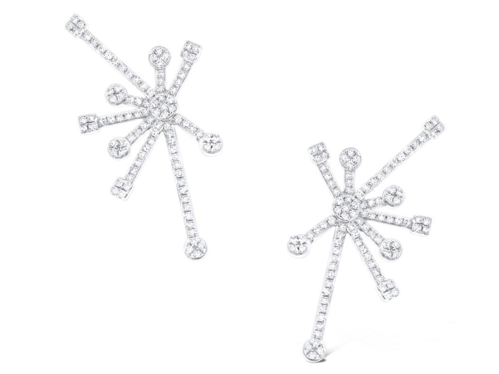 KC DESIGNS - 14K Gold and Diamond Starburst Earrings