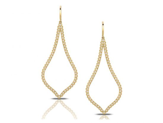 DOVES - 18K Rose Gold Diamond Earrings