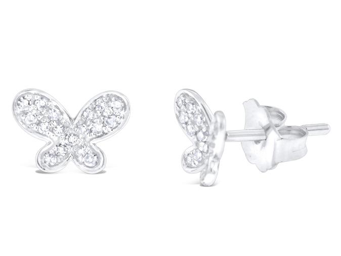KC DESIGNS - 14K Gold and Diamond Butterfly Earrings