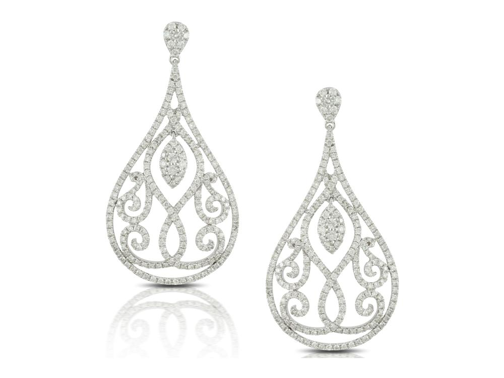 DOVES - 18K White Gold Diamond Earrings