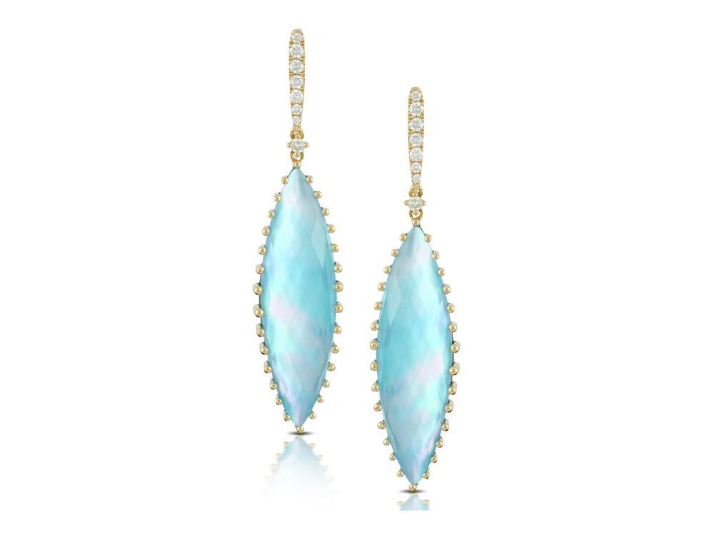 DOVES - 18K Yellow Gold Diamond Earrings