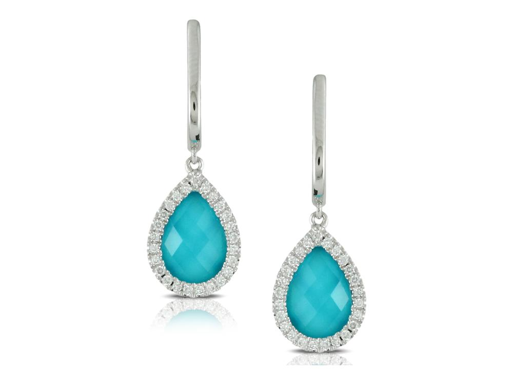 DOVES - 18K White Gold Diamond Earrings