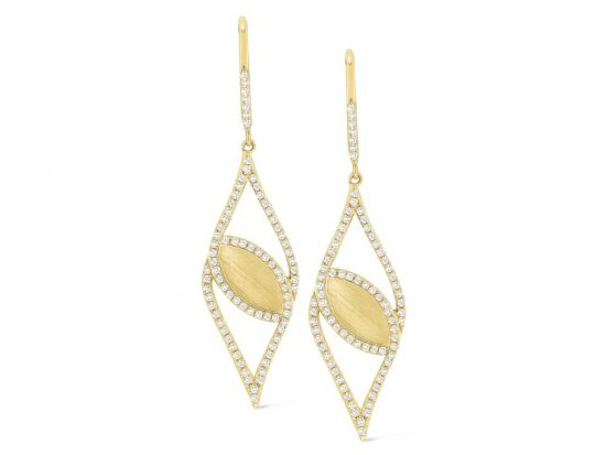 KC DESIGNS - 14K Gold and Diamond Fashion Earrings