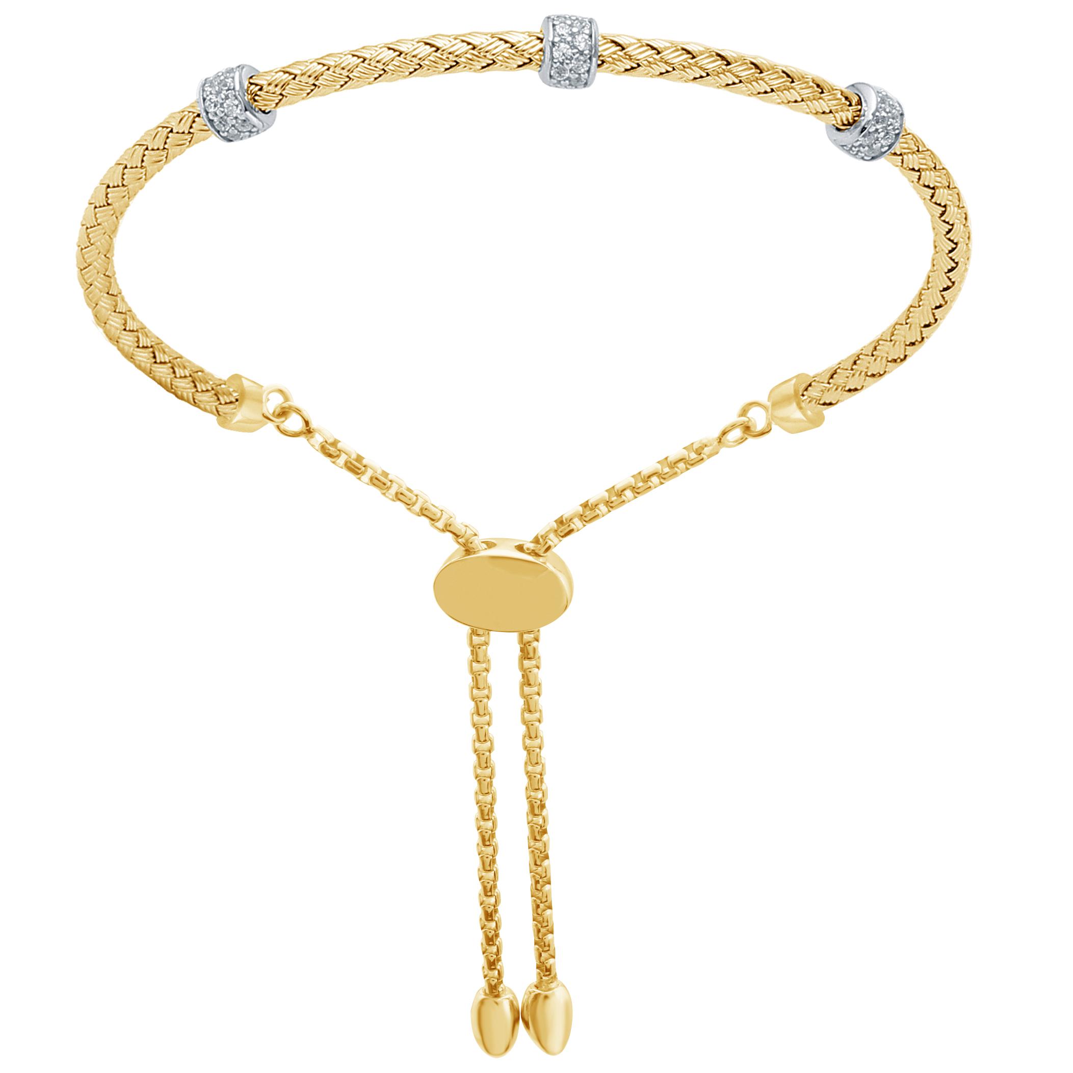 CHARLES GARNIER - Sterling Silver and CZ Bracelet
