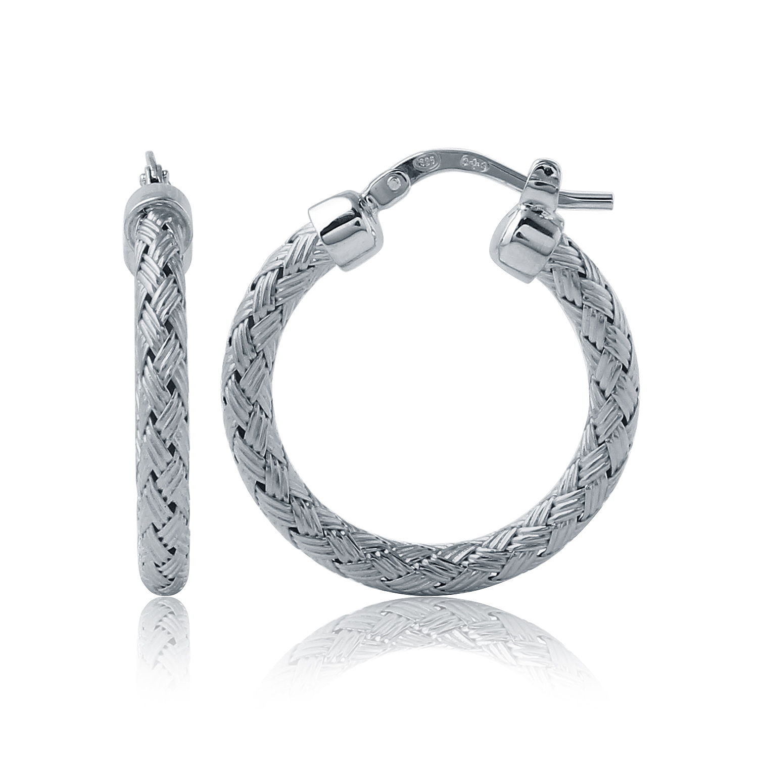 CHARLES GARNIER - Sterling Silver Hoop Earrings, 25mm