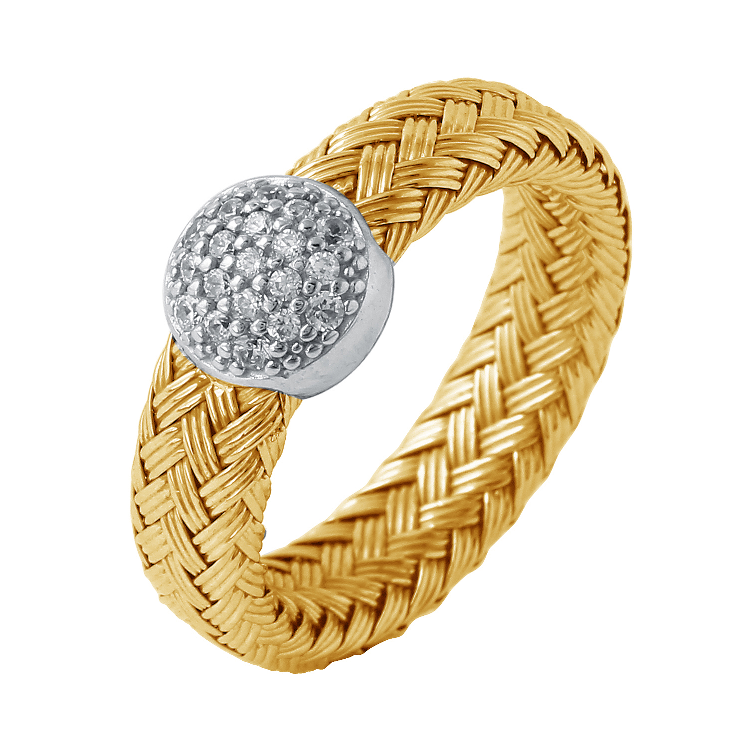 CHARLES GARNIER - Sterling Silver and CZ Ring