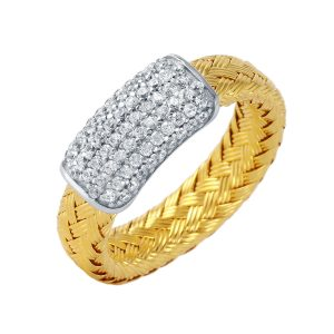 CHARLES GARNIER - Sterling Silver and CZ Bar Ring