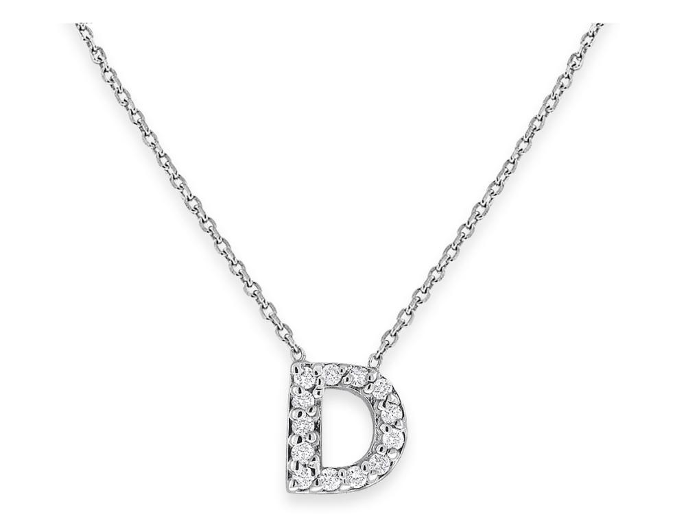 "KC DESIGNS - Diamond Bitty Block Initial ""D"" Necklace"