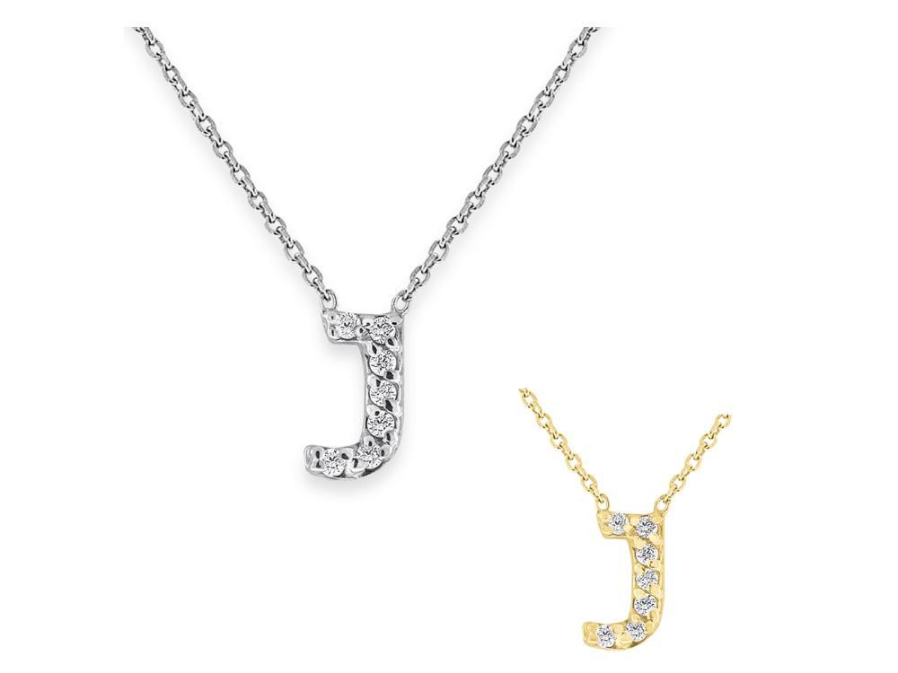 "KC DESIGNS - Diamond Bitty Block Initial ""J"" Necklace"