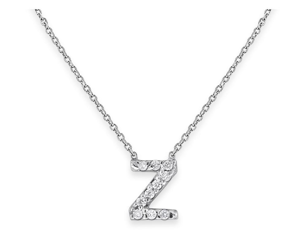 "KC DESIGNS - Diamond Bitty Block Initial ""Z"" Necklace"