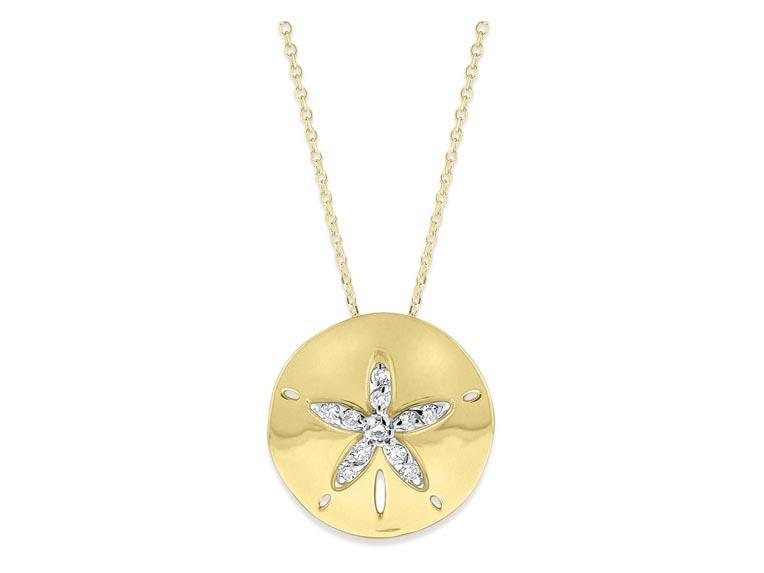 KC DESIGNS - Diamond Sand Dollar Necklace