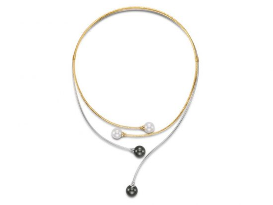 MASTOLONI - 18K Two Tone Gold 10-10.5MM Multicolor Black & White Round Tahitian and Cultured Pearl Necklace