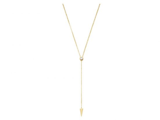 KC DESIGNS - 14K Gold and Diamond Lariat Necklace
