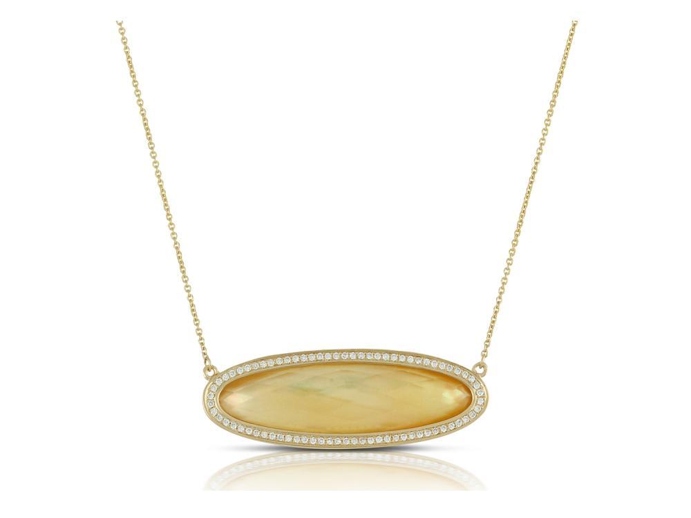 DOVES - 18K Yellow Gold Diamond Necklace