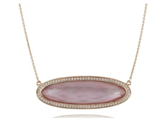 DOVES - 18K Rose Gold Diamond Necklace