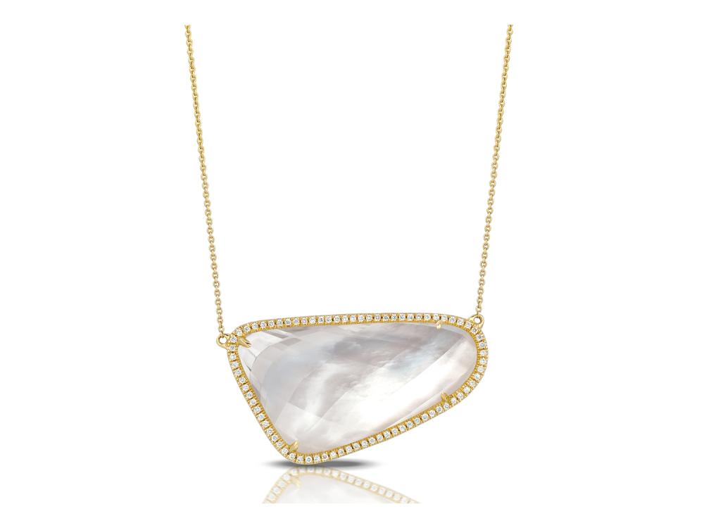 DOVES - 18K Yellow Gold Diamond Necklace