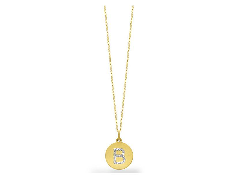 "KC DESIGNS - Diamond Disc Initial ""B"" Necklace"