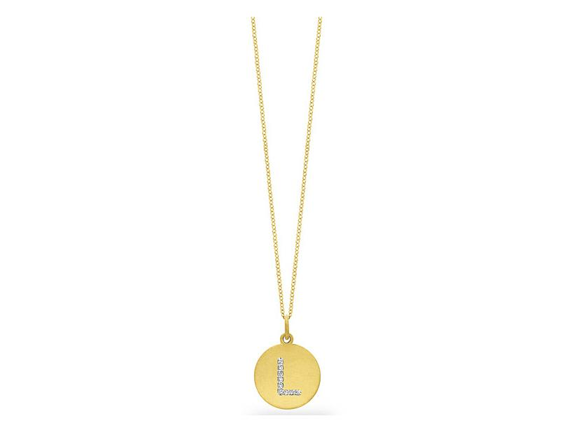 "KC DESIGNS - Diamond Disc Initial ""L"" Necklace"