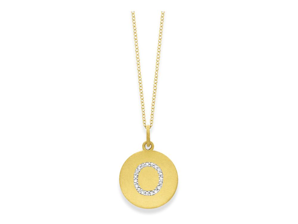 "KC DESIGNS - Diamond Disc Initial ""O"" Necklace"
