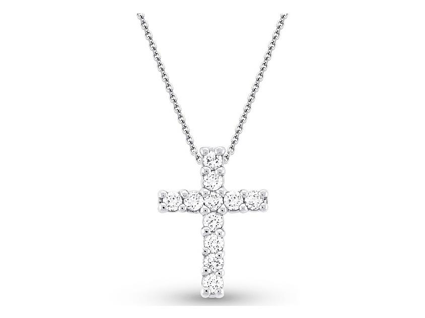 first htm my chains p cross diamond necklace