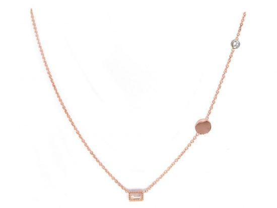 TIMELESS DESIGNS - Diamond Necklace with Moonstone