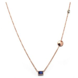TIMELESS DESIGNS - Diamond Necklace with Sapphire
